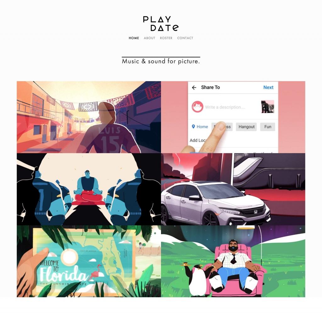 Playdate Audio web design